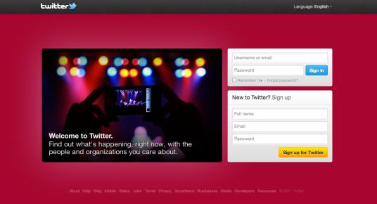 A beautiful Twitter's Login Page