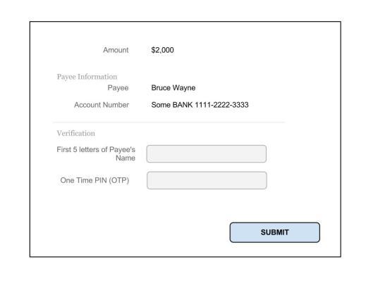 e-Banking Transfer Verification