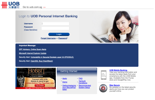 UOB Personal Internet Banking - Website